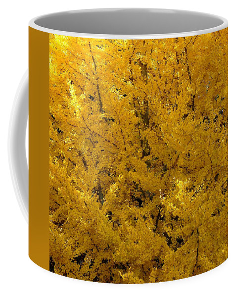Abstract Coffee Mug featuring the photograph In The Thick Of Autumn by Rodney Lee Williams
