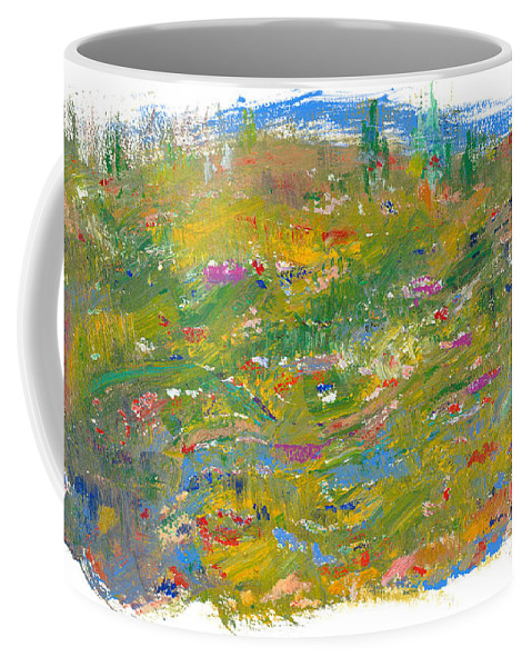 Valley Coffee Mug featuring the painting In The Valley by Bjorn Sjogren