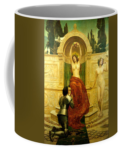 In The Venusberg Tannhauser Coffee Mug featuring the digital art In The Venusberg Tannhauser by John Collier
