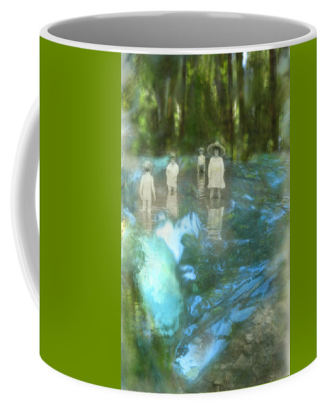 Children Coffee Mug featuring the digital art In The Water by Lisa Yount