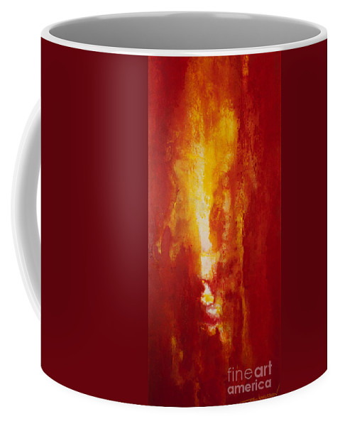Fire Coffee Mug featuring the painting Incendie by Todd Karleskein