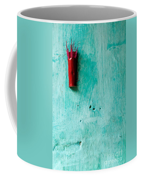 Red Coffee Mug featuring the photograph Incense 04 by Rick Piper Photography