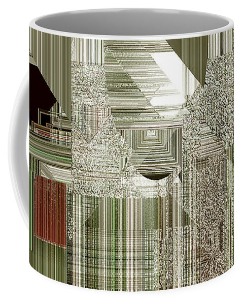 Abstract Coffee Mug featuring the painting Indecision I by RC DeWinter