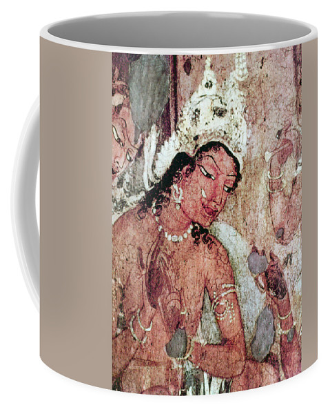 5th Century Coffee Mug featuring the painting India Ajanta Cave by Granger