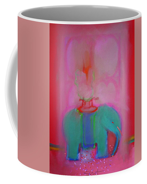 Elephant Coffee Mug featuring the painting Indian Elephant by Charles Stuart