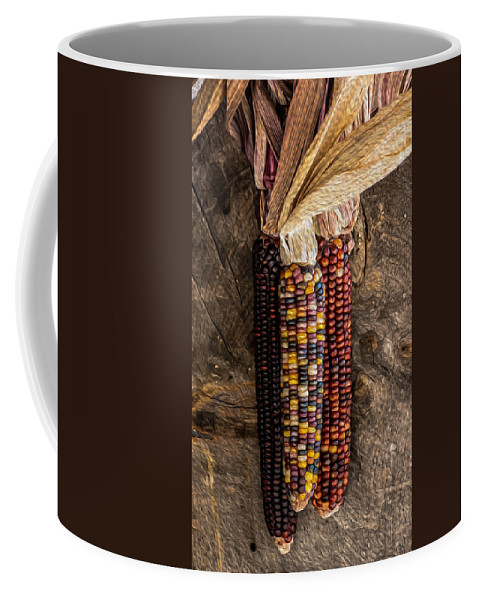 Indian Coffee Mug featuring the photograph Indian Harvest Corn by Michael Moriarty