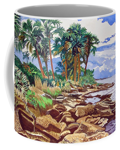 Indian River Coffee Mug featuring the painting Indian River Lagoon by Alan Mintz