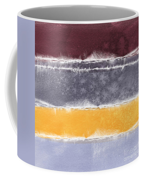 Abstract Coffee Mug featuring the painting Indian Summer by Linda Woods