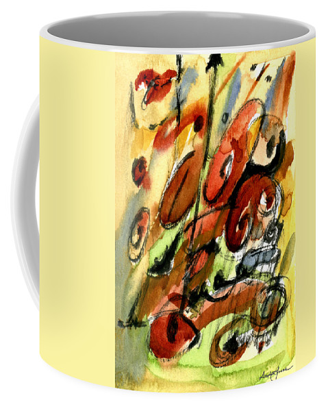 Abstract Art Coffee Mug featuring the painting Indian Summer by Stephen Lucas