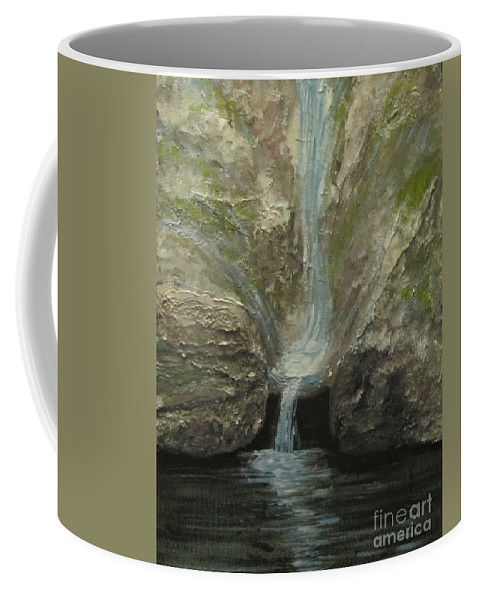 Acrylic Coffee Mug featuring the painting Indian Well by Lorraine Centrella