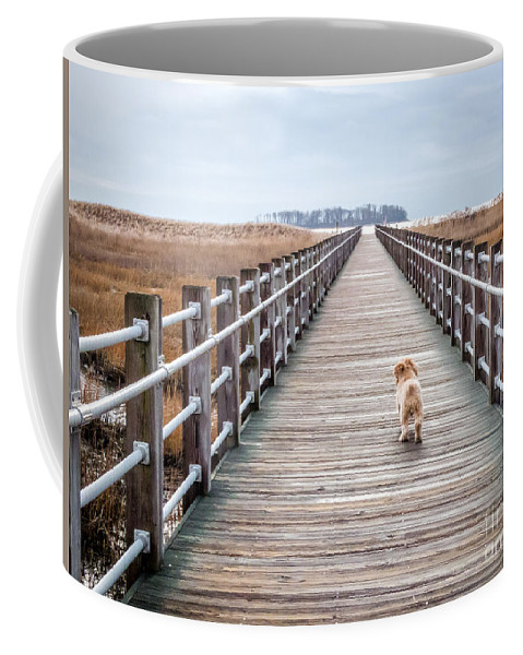 New England Coffee Mug featuring the photograph Infinite Boardwalk Run by DAC Photography