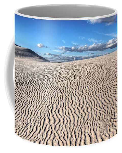 White Sands Coffee Mug featuring the photograph Infinite Sand Patterns by Vivian Christopher