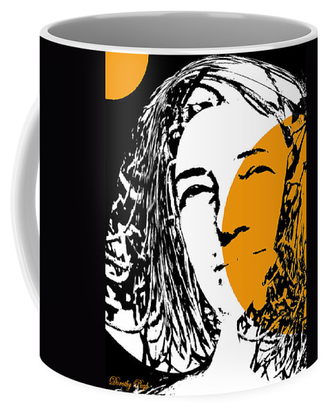Portrait Coffee Mug featuring the digital art Influence Of The Moon by Dorothy Pugh