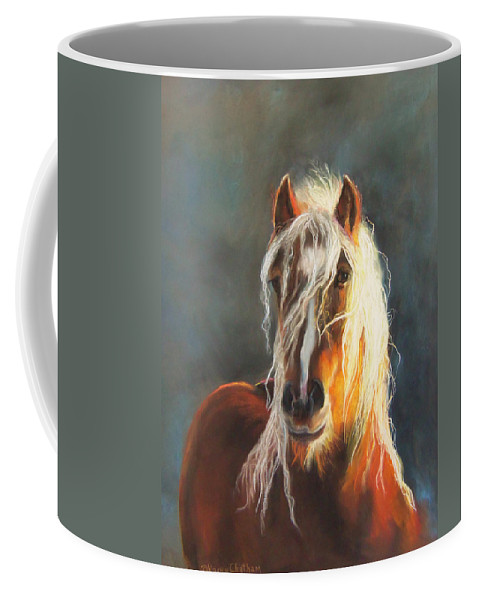 Hope Of Glory Gypsy Horse Coffee Mug featuring the pastel Ingalyl by Karen Kennedy Chatham