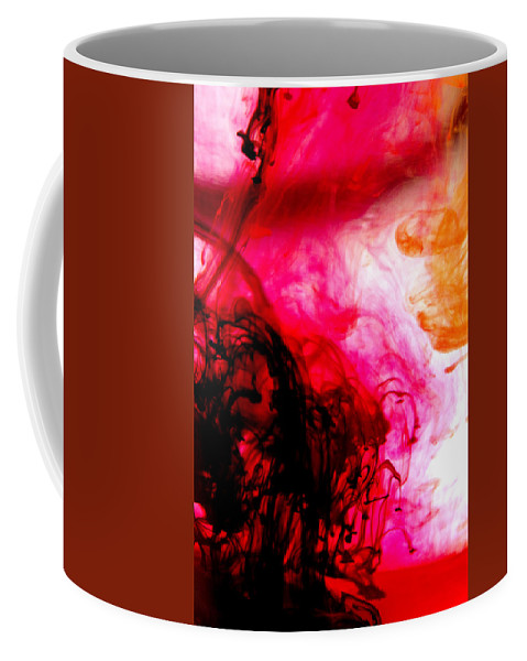 Abstract Coffee Mug featuring the photograph Ink Bath 6 by Molly Picklesimer