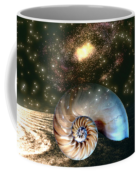 Shell Coffee Mug featuring the digital art Inner Space Outer Space by Lisa Yount