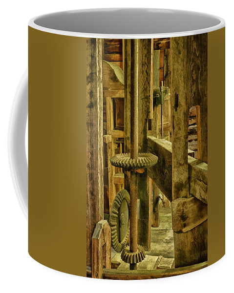 Mingus Mill Coffee Mug featuring the photograph Inner Workings Of Mingus Mill by Priscilla Burgers