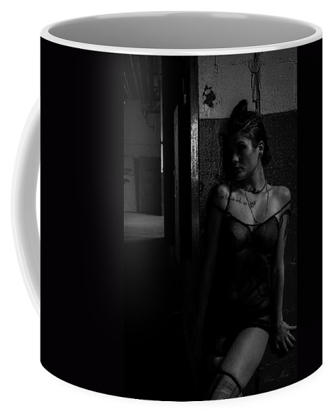 Black And White Coffee Mug featuring the photograph Innocence Lost by Blue Muse Fine Art