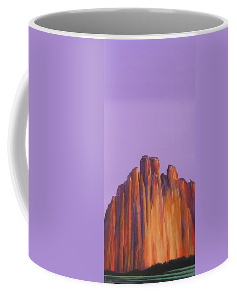 Landscape Coffee Mug featuring the painting Inscription Rock by Hunter Jay