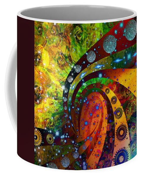 Digital Art Coffee Mug featuring the digital art Inside Consciousness by Ally White