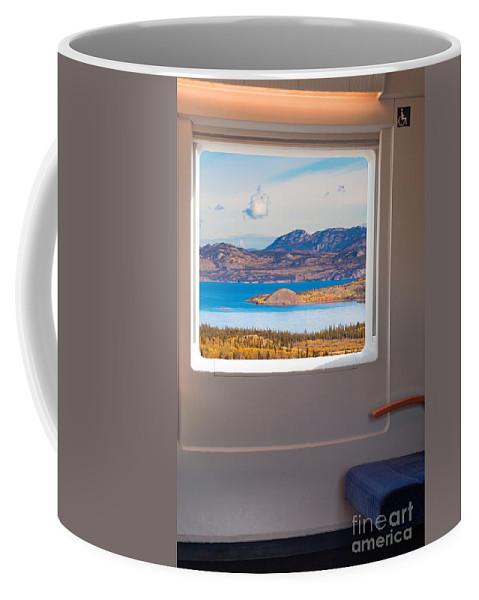 Armrest Coffee Mug featuring the photograph Inside High-speed Train by Stephan Pietzko