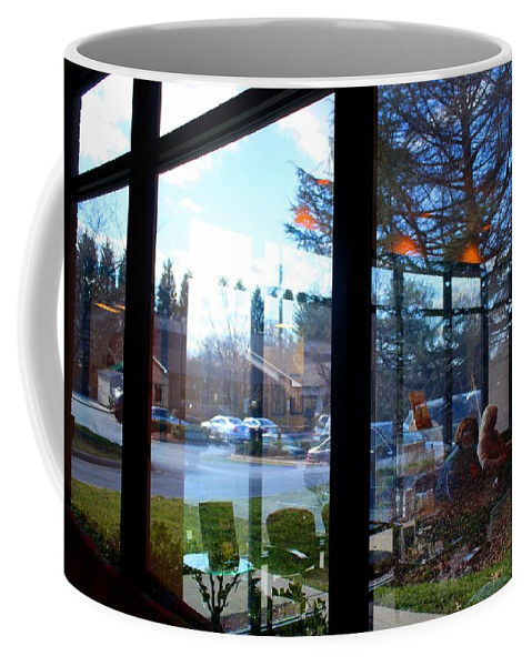 Window Coffee Mug featuring the photograph Inside Out by Kathryn Meyer