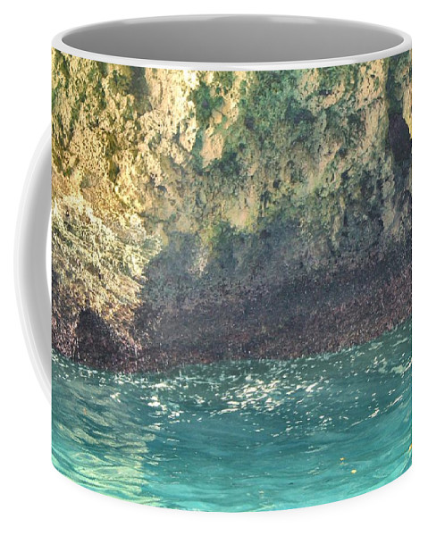 Cave Coffee Mug featuring the photograph Inside The Cave by Debbie Levene