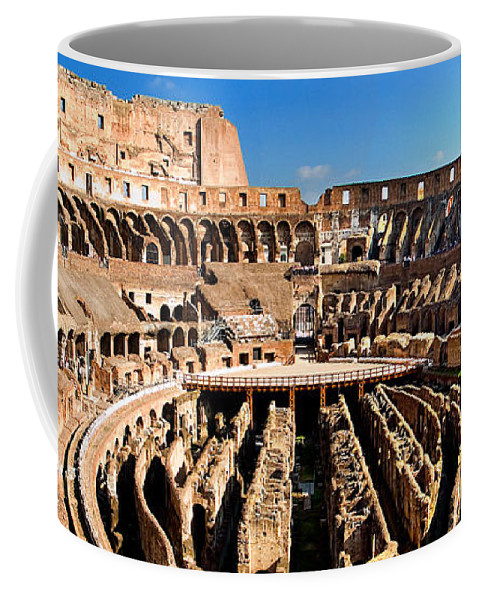 Colosseum Coffee Mug featuring the photograph Inside The Colosseum by Weston Westmoreland