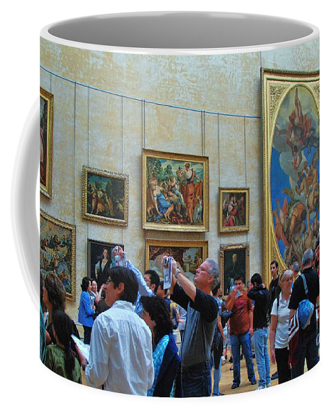 The Louvre Coffee Mug featuring the photograph Inside The Louvre 1 by Allen Beatty