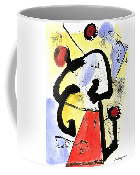 Abstract Art Coffee Mug featuring the painting Intense And Purpose 1 by Stephen Lucas