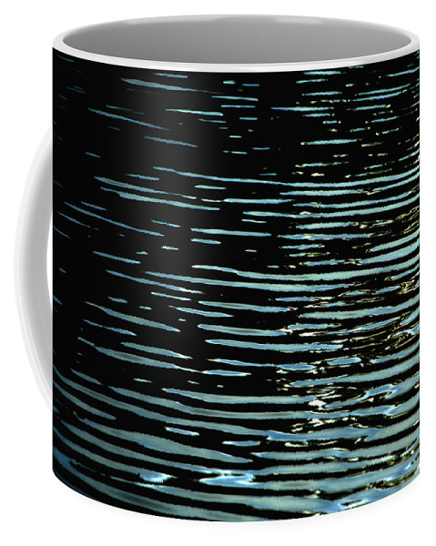 Abstract Water Reflection Coffee Mug featuring the photograph Intensity by Donna Blackhall