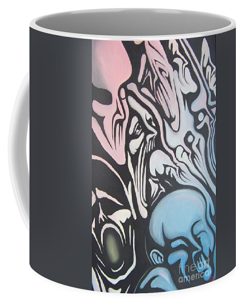 Tmad Coffee Mug featuring the painting Intensity by Michael TMAD Finney
