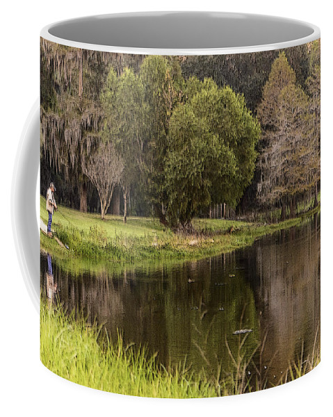 Fishing Coffee Mug featuring the photograph Intent by Leticia Latocki