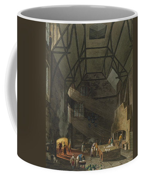 Beam Coffee Mug featuring the drawing Interior Of The Kitchen, Trinity by William Henry Pyne