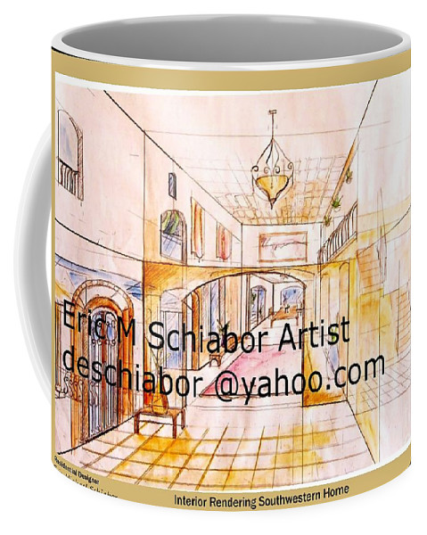 Interior Coffee Mug featuring the painting Interior Perspective by Eric Schiabor