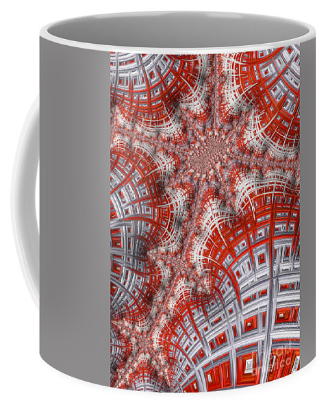 Art Coffee Mug featuring the digital art Intersecting by Heidi Smith