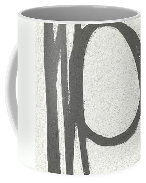 Abstract Coffee Mug featuring the painting Intersection by Linda Woods