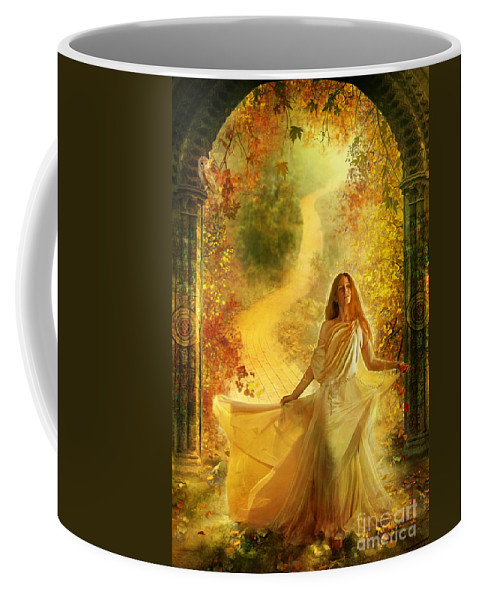 Yellow Coffee Mug featuring the photograph Into Dreams by MGL Meiklejohn Graphics Licensing