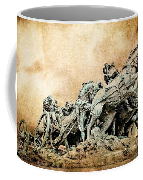 Confederate War Statue Coffee Mug featuring the photograph Into The Air Charging by Alice Gipson