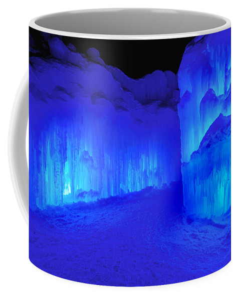 Loon Mountain Coffee Mug featuring the photograph Into The Blue by Greg Fortier