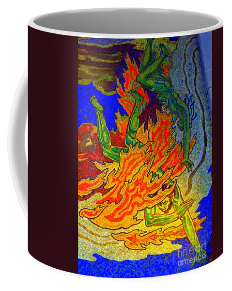 Art Deco Coffee Mug featuring the photograph Into The Flames Of Hell by Ed Weidman