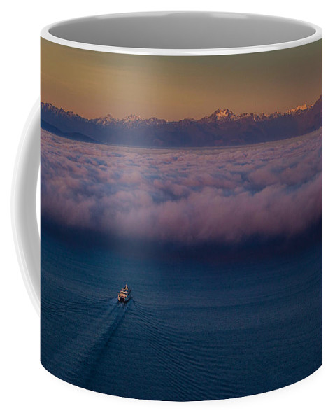 Seattle Coffee Mug featuring the photograph Into The Mist by Mike Reid