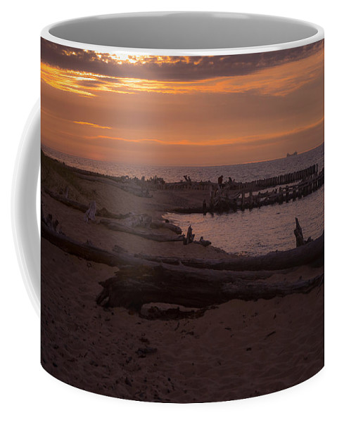 Ships Coffee Mug featuring the photograph Into The Sunset by Gales Of November