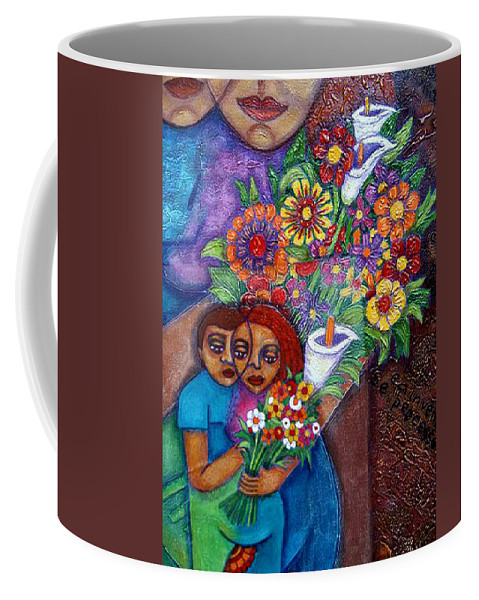 Invention Of Love Coffee Mug featuring the painting Invention Of Love Closer by Madalena Lobao-Tello