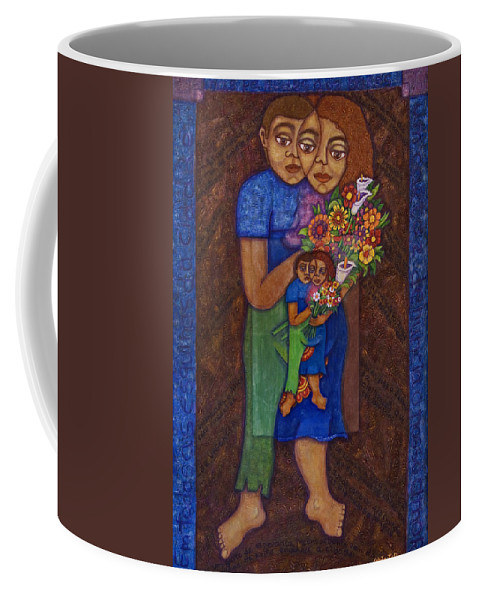 Invention Of Love Coffee Mug featuring the painting Invention Of Love by Madalena Lobao-Tello
