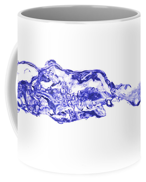 Abstract Coffee Mug featuring the photograph Involutions - Blowing Spray by Michal Boubin