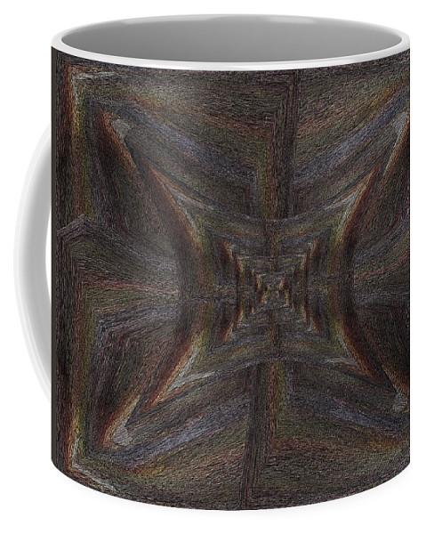 Inward Coffee Mug featuring the digital art Inward Outward by Tim Allen