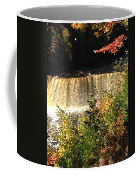 Tahquamenon Falls Coffee Mug featuring the photograph iphone Tahquamenon pic by Linda Kerkau