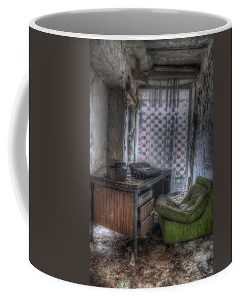 Berlin Coffee Mug featuring the digital art Iraq Office by Nathan Wright