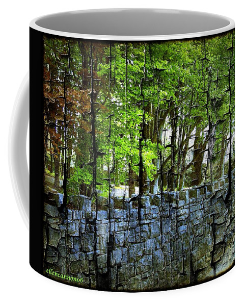 Ireland Coffee Mug featuring the photograph Ireland Stone Wall And Trees by Ellen Cannon